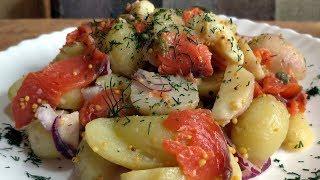 Съедается моментально / Мой фирменный картофельный салат с красной рыбой