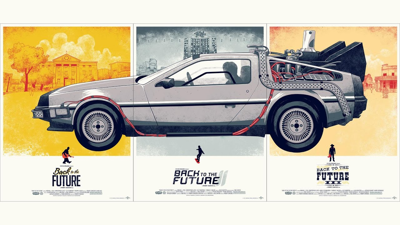 back to the future delorean posters youtube. Black Bedroom Furniture Sets. Home Design Ideas