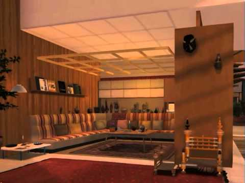 eames house interior of virtual model youtube