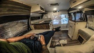Urban Stealth Camping Vąn Tour w/Off Grid Solar