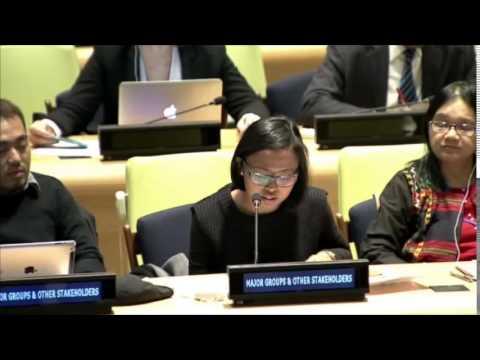 Ms. Eni Lestari Andayani Adi - International Migrants Alliance - February UN Post-2015 negotiations