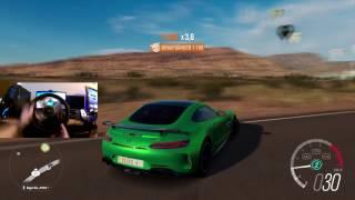 Forza Horizon 3 Mercedes AMG GT-R Gampelay Logitech G27 - 60 FPS HD