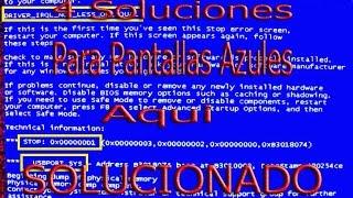 COMO SOLUCIONAR ERROR DE PANTALLA AZUL EN WINDOWS 7 (TODAS LAS SOLUCIONES) - 100% GARANTIZADO - 2016