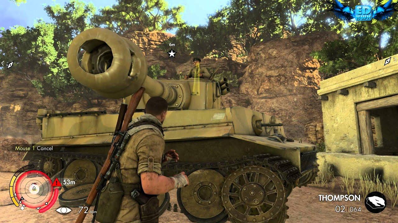 Sniper Elite 3 Afrika 2014 How To Destroy The Tiger Tank