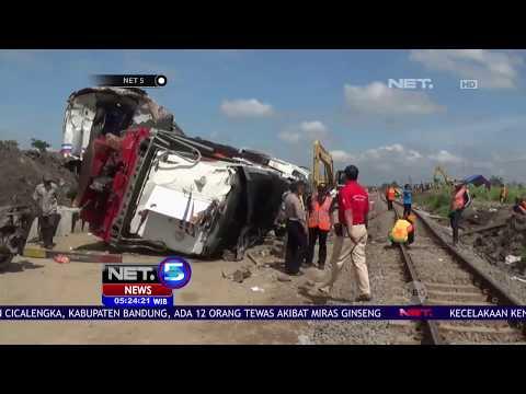 KNKT Investigasi Kecelakaan Kereta Api Sancaka - NET 5
