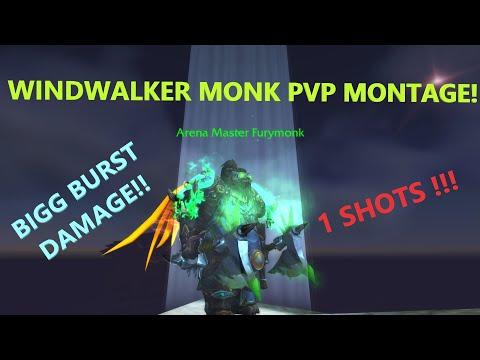 Windwalker Monk PvP Montage (Crazy Damage!) - World of Warcraft BFA 8.3