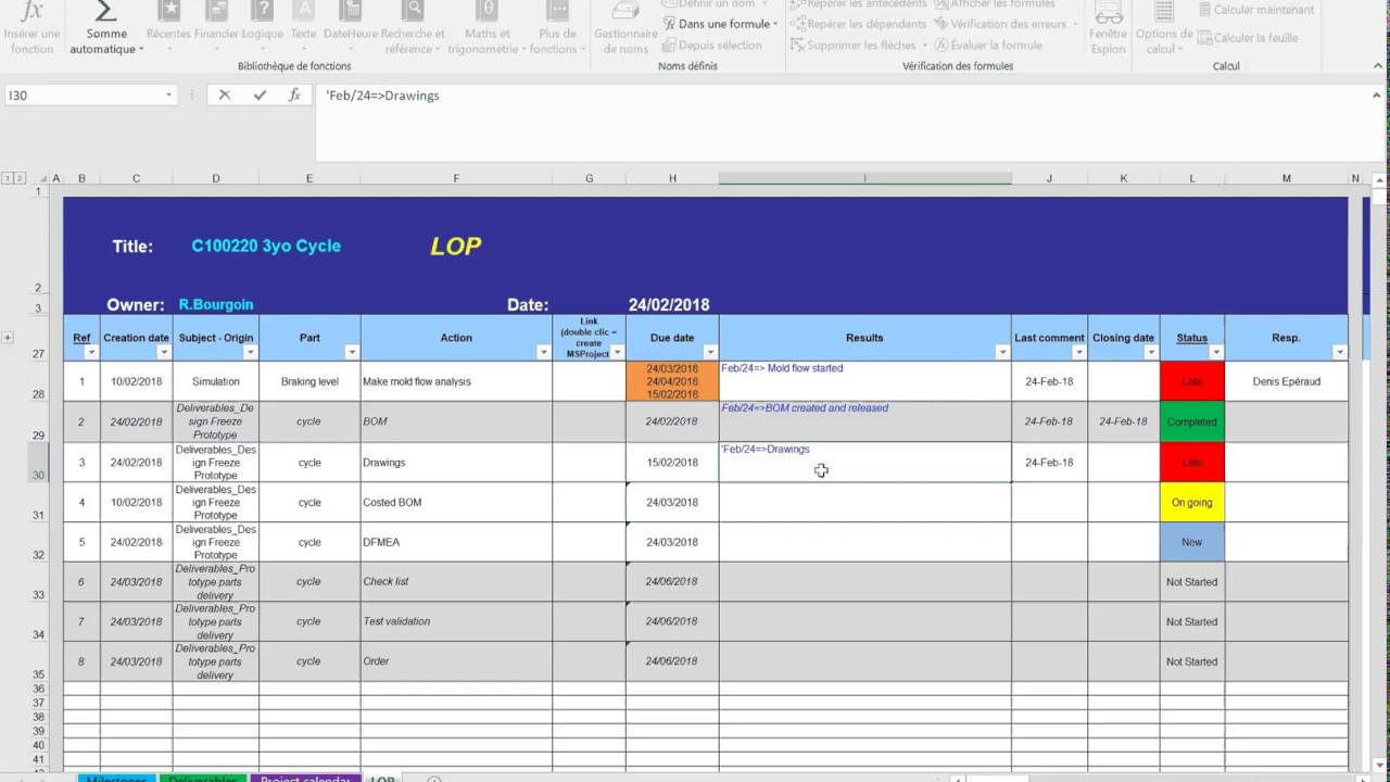 lop template todo s items list of open points excel spreadsheet