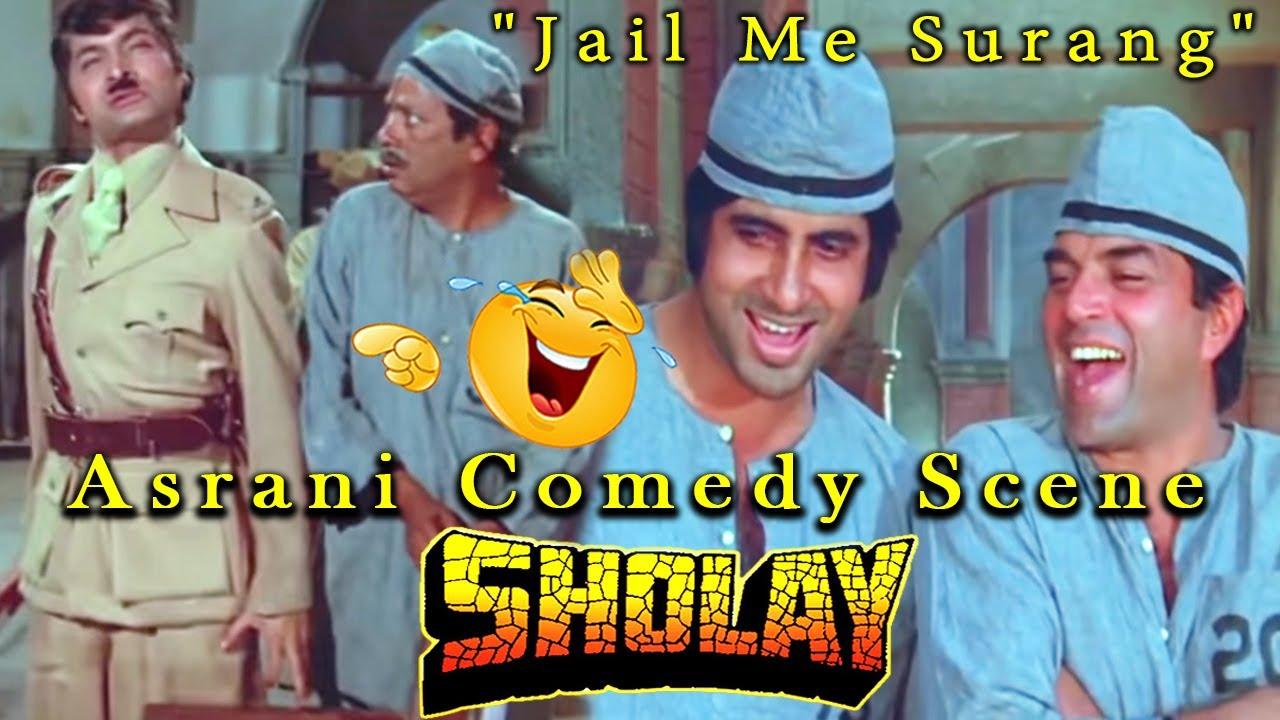 """Download """"Jail Me Surang"""" Asrani Comedy Scene From Sholay Hindi Movie"""