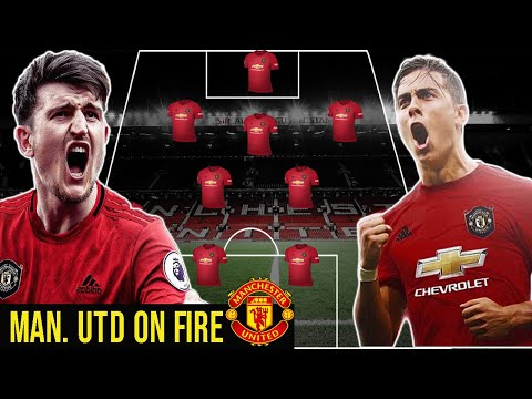 MANCHESTER UNITED POTENTIAL LINEUP WITH DYBALA, MAGUIRE AND BRUNO FERNANDEZ (2019)