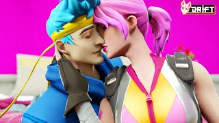 NINJA SHARES A PASSIONATE KISS WITH JOURNEY!! - Fortnite Short Films