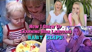 How I Grew Up Learning Sign Language - BABY CLIPS