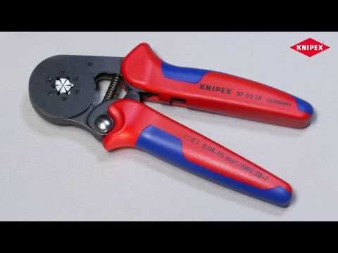 Self-Adjusting Crimping Pliers for end sleeves (ferrules) with ...