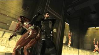 Game Deus Ex Human Revolution Chapter Singapore Facility  Secure Bunker Mission Kill the Boss  Jaron Namir without weapons Spam key Q while