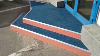 видео противоскользящее покрытие на ступени крыльца