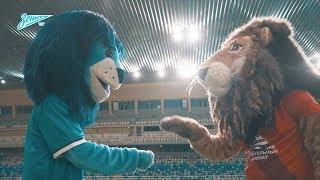 Видео дня: первая в истории встреча талисманов «Зенита» и «Енисея»