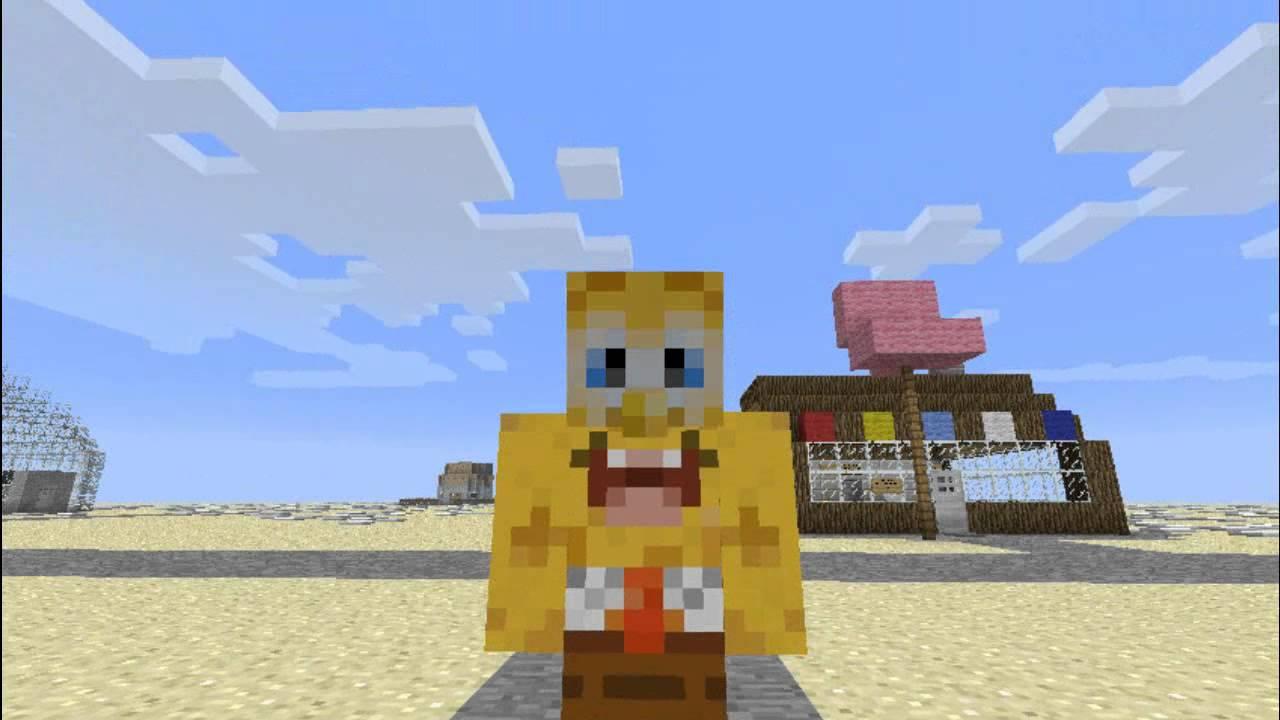 Bob Esponja en Minecraft Ep1  YouTube
