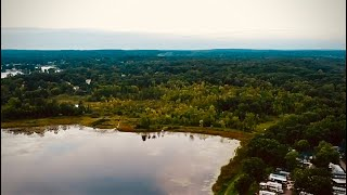 Cinematic drone footage