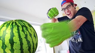 DESTROYING A WATERMELON WITH HULK'S PUNCH
