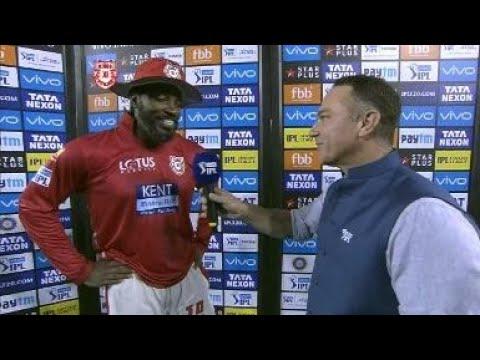 KKR VS KXIP || VIVO IPL 2018 || CHRIS GAYLE INTERVIEW HYDERABADI STYLE