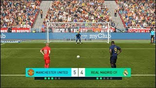 MANCHESTER UNITED vs REAL MADRID | Penalty Shootout | New Kits 2018/2019 | PES 2018 Gameplay PC