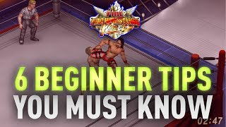 6 Beginner Tips Fire Pro Wrestling World Academy Part 1
