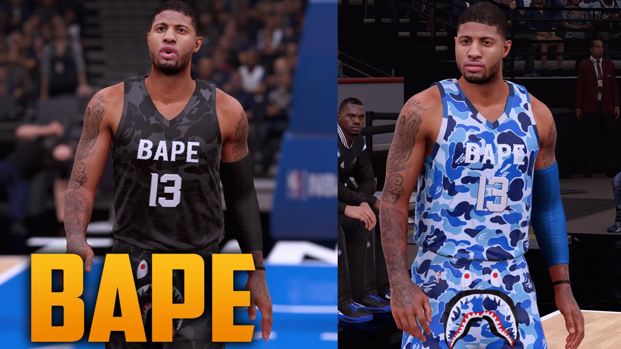 e42523c3ac9 NBA 2K16 Bape Jersey & Court Tutorial - YouTube