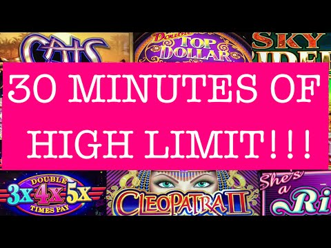 **30MINS of HIGH LIMIT** 10,000 SUBSCRIBERS!! ✦LIVE PLAY✦ Slot Machine in Vegas/Cali