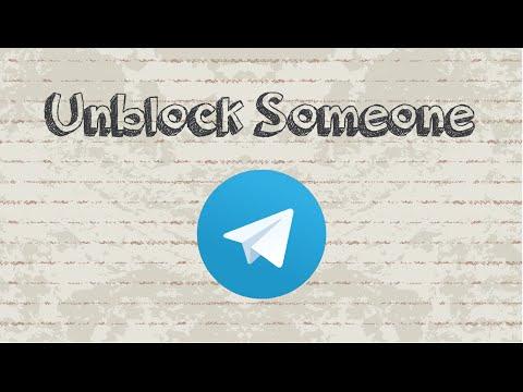 How to unblock someone on Telegram - YouTube