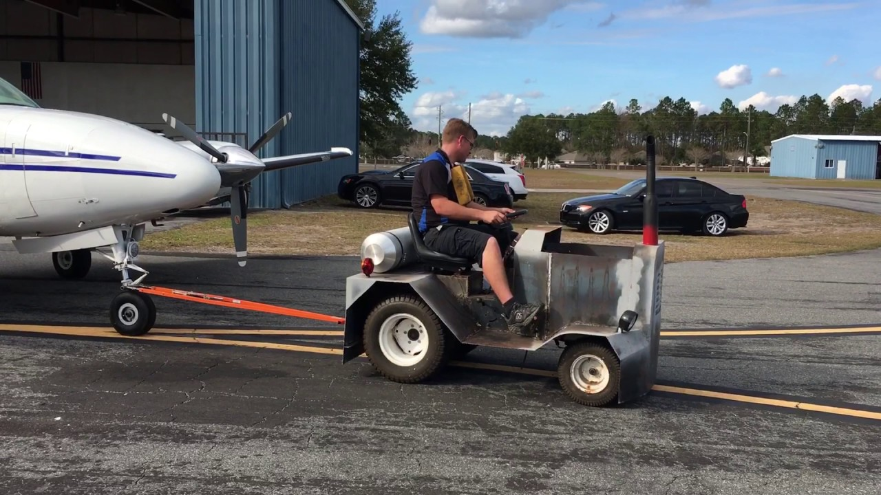 Homebuilt Aircraft Tug test #1