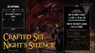 how to make the night silence set esp