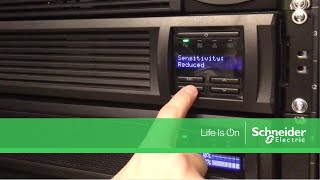 Adjusting Input Sensitivity on APC Smart-UPS SMT & SMX Series | Schneider Electric Support