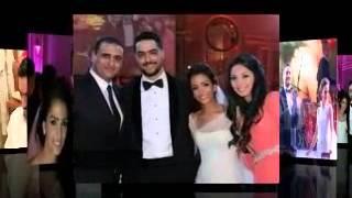 صور حسن الشافعي وزوجته زينة في يوم زفافهم