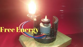 Free Energy Generator With Magnet And Motor Use Bulb 15 Watt 12 Volt