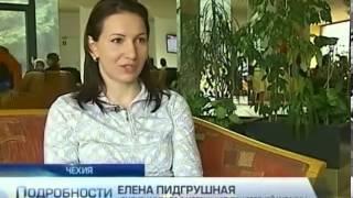 Украинские биатлонистки Вита и Валя Семеренко празд...