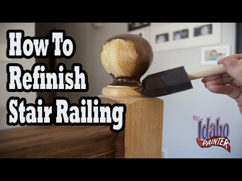 how to refinish wood hand railing hacks staining stair. Black Bedroom Furniture Sets. Home Design Ideas