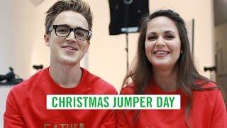 Tom and Giovanna Fletcher Celebrate Christmas Jumper Day