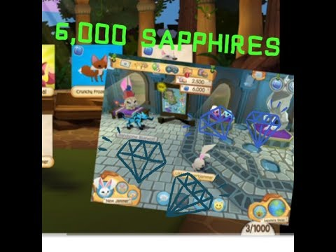 AJHQ Gifted Me 6,000 Sapphires Animal Jam Play Wild - Most Popular