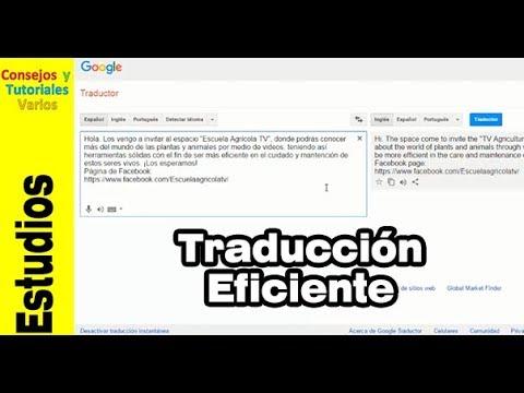 Consejos para mejorar la traducción en google traductor