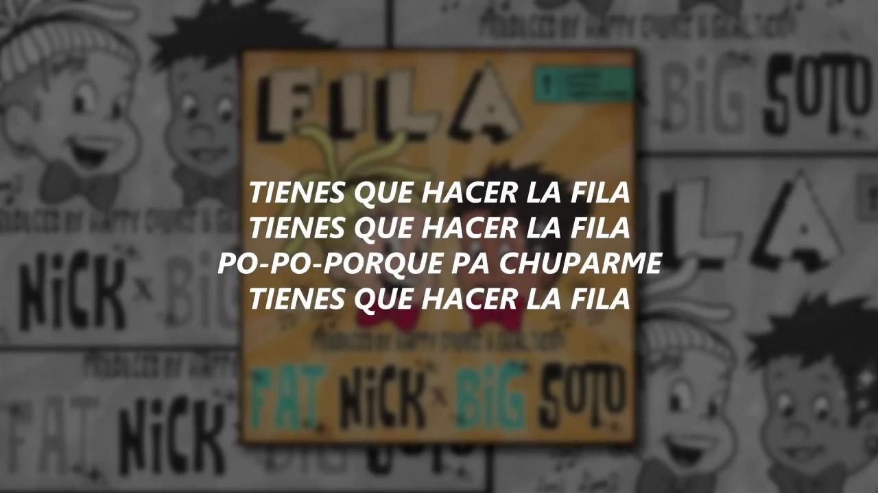Download (LETRA/LYRICS) Fat Nick x Big Soto - FILA