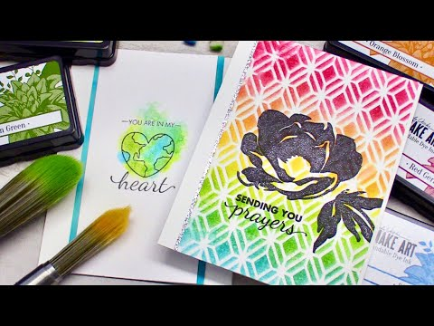 Ink Blending + Watercolor (New Wendy Vecchi inks) | LIVE Chat!