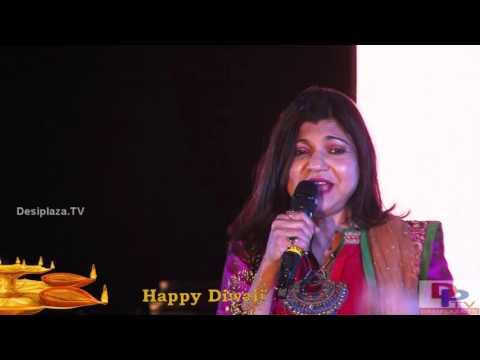 Alka Yagnik singing  Chamma Chamma Baaje Re song at DFWICS Diwali Mela 2015 at Dallas