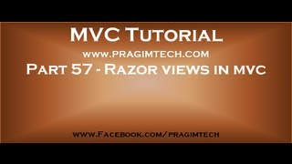 Part 57   Razor views in mvc