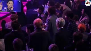 BTS, EXO watching  BIGBANG 빅뱅 WE LIKE 2 PARTY @ 5th Gaon Chart K POP Awards 가온차트 K POP 어워드