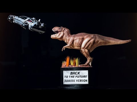 DIORAMA BACK TO THE FUTURE JURASSIC VERSION HOW TO MAKE