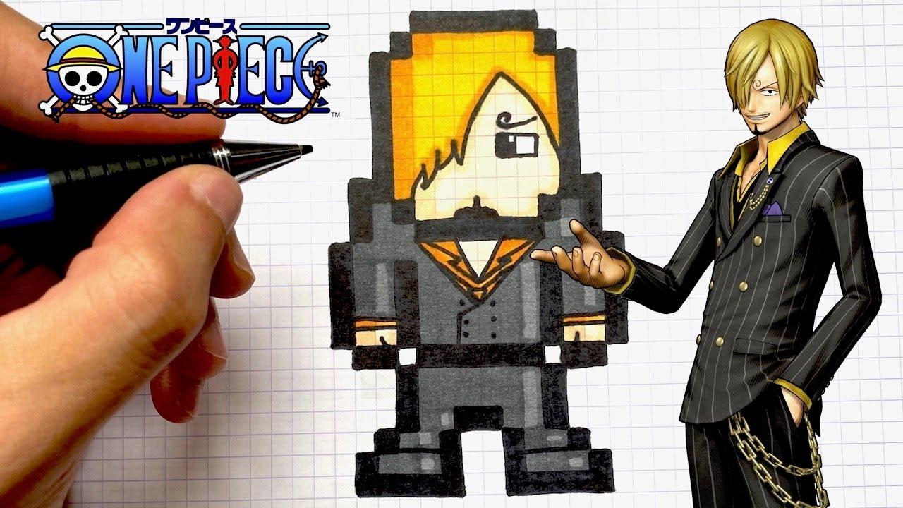 How To Draw Sanji Pixel Art One Piece Youtube