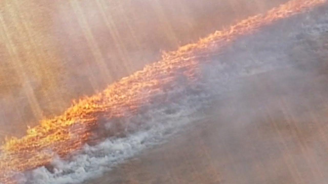 Sea Of Fire Races Across Field In Australia Youtube