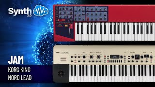 VA Synth Demo - Korg Kingkorg + Nord Lead ( Space4Keys Keyboard Solo )