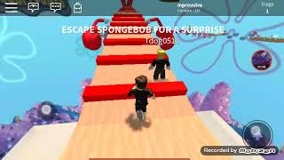 My first play game escape spongbob. In roblox😂😂😂😂