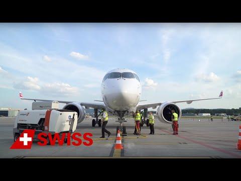 SWISS welcomes Bombardier C Series CS100