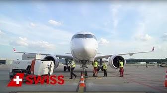 SWISS welcomes Bombardier C Series CS100   SWISS